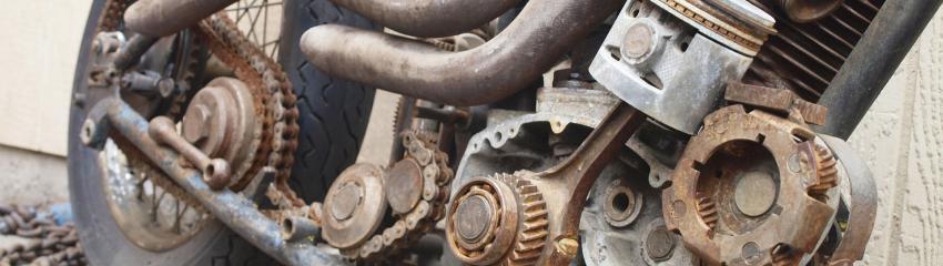 Vendre sa moto accidentée